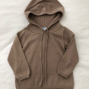 C de C Beige Hooded Sweater | 12 months